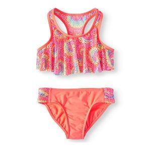 Wonder Nation Girls Tie Die Bikini Swimsuit